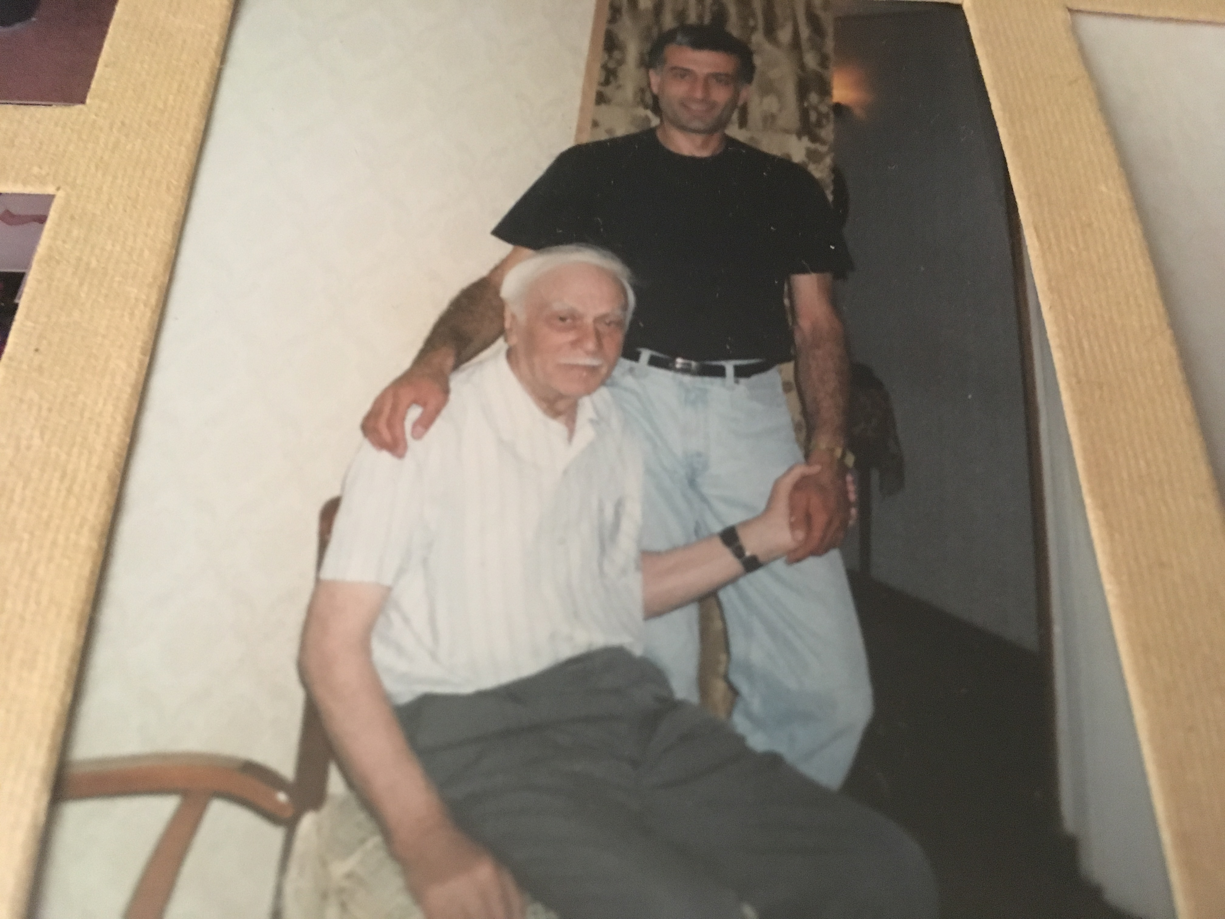 Photo of my dad and grandfather.