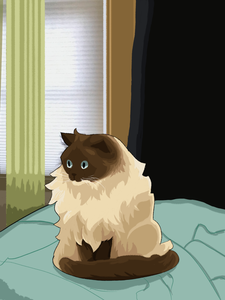 A digital painting of my cat.