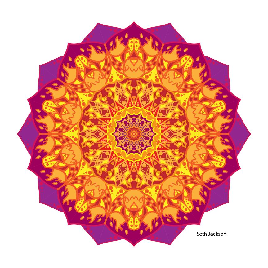 A colored mandala.
